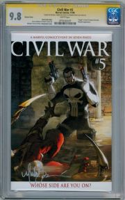 Civil War #5 Retail Variant CGC 9.8 Signature Series Signed Michael Turner Punisher Marvel comic book